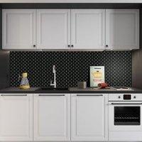 Black Porcelain Mosaic tile (L)320mm (W)298mm
