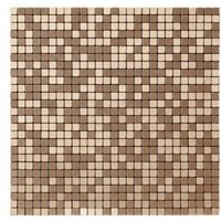 Abu dhabi Brushed bronze effect Metal Mosaic tile sheets (L)290mm (W)290mm