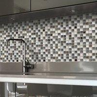 Antwerp White Glass Mosaic tile sheets (L)300mm (W)300mm