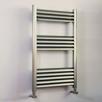 Accuro Korle Champagne Silver Towel warmer (H)800mm (W)500mm