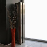 Accuro Korle QUATTRO Vertical Radiator Stainless Steel (H)1510 mm (W)270 mm