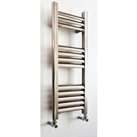 Accuro Korle Champagne Vertical Towel Warmer Brushed Aluminium (H)800 mm (W)300 mm