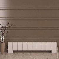Carisa Elvino Horizontal Radiator White Textured (H)300 mm (W)1245 mm