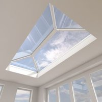 Crystal Contemporary Aluminium & PVC Fixed Roof Lantern (H)453mm (W)1500mm (L)3000mm
