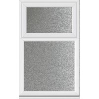 White PVCu Top Hung Fixed Lite Window (H)1040mm (W)610mm