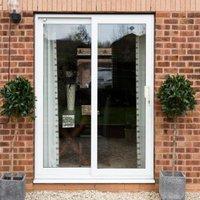 White PVCu Glazed Sliding Door Patio Door  (H)2090mm (W)1790mm
