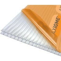 Axiome Clear Polycarbonate Twinwall Roofing sheet (L)4m (W)690mm (T)6mm