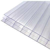 Axiome Clear Polycarbonate Multiwall Roofing sheet (L)5m (W)690mm (T)16mm
