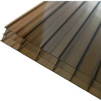 Axiome Bronze effect Polycarbonate Multiwall Roofing sheet (L)3m (W)690mm (T)16mm