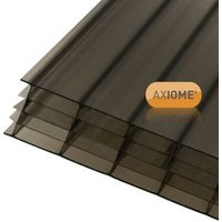 Axiome Bronze effect Polycarbonate Multiwall Roofing sheet (L)5m (W)690mm (T)25mm