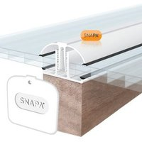 SNAPA White Aluminium Glazing bar  (L)4m (W)45mm (T)25mm