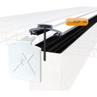 Alukap XR White Aluminium Glazing bar (L)3m (W)60mm (T)20mm