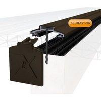 Alukap XR Brown Aluminium Glazing bar (L)4.8m (W)60mm (T)20mm