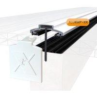 Alukap XR White Aluminium Glazing bar (L)4.8m (W)60mm (T)20mm