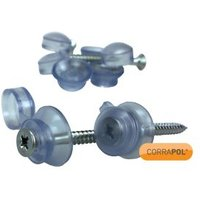 Corrapol Polycarbonate (PC) and steel Roofing screw (L)50mm  Pack of 50