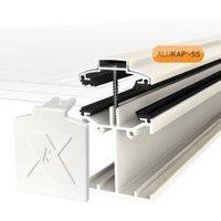 Alukap SS White Aluminium Low profile Glazing bar (L)3m (W)60mm (T)90mm