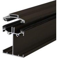 Alukap SS Brown Aluminium Low profile Glazing bar (L)3m (W)60mm (T)90mm
