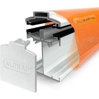 Alukap SS White Aluminium Low profile Glazing bar (L)4.8m (W)60mm (T)90mm