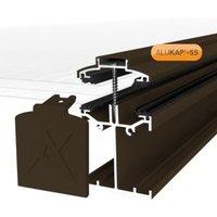 Alukap SS Brown Aluminium Low profile Glazing bar (L)4.8m (W)60mm (T)90mm