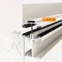 Alukap White Axiome sheet or glass glazing bar  (H)140mm (W)60mm (L)3000mm