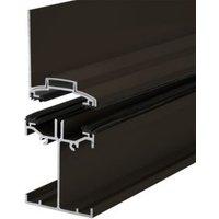 Alukap Brown Axiome sheet or glass glazing bar  (H)140mm (W)60mm (L)3000mm