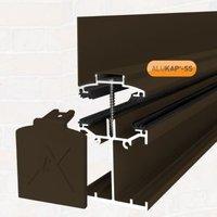Alukap Brown Axiome sheet or glass glazing bar  (H)140mm (W)60mm (L)4800mm