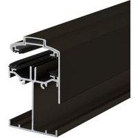 Alukap Brown Axiome sheet glazing bar  (H)90mm (W)60mm (L)4800mm