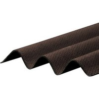 Corrapol-BT Brown Bitumen Corrugated Roofing sheet (L)2m (W)930mm (T)2mm