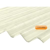 Corrapol Clear Polyester (PES) Corrugated Roofing sheet (L)2m (W)950mm (T)0.7mm