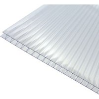 Clear Polycarbonate Twinwall Roofing Sheet 2m x 1000mm