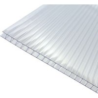 Axiome Clear Polycarbonate Twinwall Roofing sheet (L)2m (W)1000mm (T)6mm