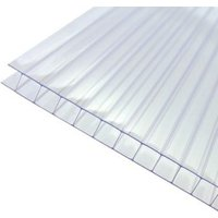 Axiome Clear Polycarbonate Twinwall Roofing sheet (L)2.5m (W)1000mm (T)10mm