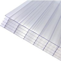 Axiome Clear Polycarbonate Multiwall Roofing sheet (L)4m (W)1000mm (T)25mm