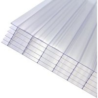 Axiome Clear Polycarbonate Multiwall Roofing sheet (L)4m (W)1000mm (T)32mm