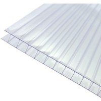 Axiome Clear Polycarbonate Twinwall Roofing sheet (L)2.5m (W)690mm (T)10mm