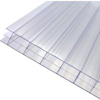 Axiome Clear Polycarbonate Multiwall Roofing sheet (L)2.5m (W)690mm (T)16mm