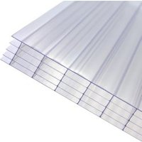 Axiome Clear Polycarbonate Multiwall Roofing sheet (L)2.5m (W)690mm (T)25mm