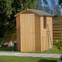 6X4 Shetland Apex Shiplap Wooden Shed with Assembly Service Base Included