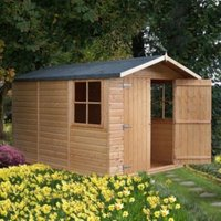10X7 Guernsey Apex Shiplap Wooden Shed with Assembly Service Base Included