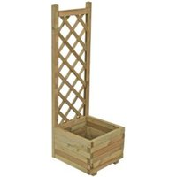 Grow your own Wooden Pale green Planter (H)1220mm (Dia)1220mm