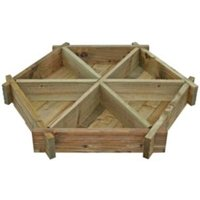 Blooma Timber Herb Wheel Planter (H)140mm (W)1.07m