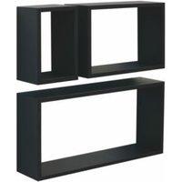 Black Matt Cube shelving (L)600mm (D)300mm  Pack of 3