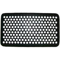 Diall Black Rubber Door mat (L)700mm (W)400mm