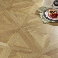 Colours Staccato Natural Oak parquet effect Laminate flooring  1.86m² Pack