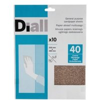 Diall 40 Coarse Sandpaper Sheet  Pack of 10