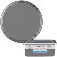 Colours Standard Grey Slate Matt Emulsion Paint 2.5L