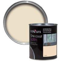 Colours One coat Ivory Satin Wood & metal paint 0.75L