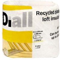 Diall Loft Insulation  (L)8M (W)0.37 M (T)100mm