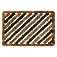 Colours Green & Natural Coir Door Mat (L)600mm (W)400mm