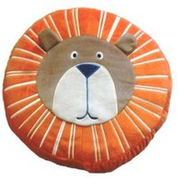 Animals Lion Orange & Brown Cushion